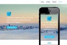 Blue App Website Template