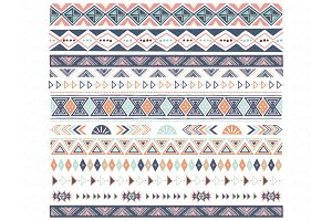 Navaho Tribal Aztec Ribbon Borders