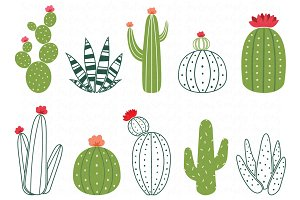 Cactus Design Elements