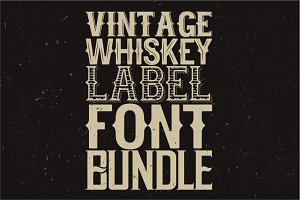 Whiskey fonts BUNDLE!