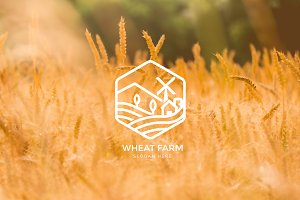 Agriculture - Wheat Farm Logo