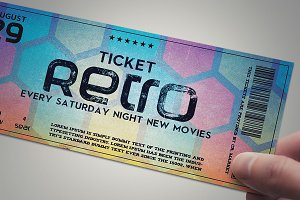 Stylish retro ticket