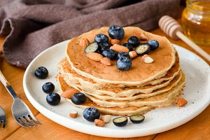 Breakfast food: pancakes