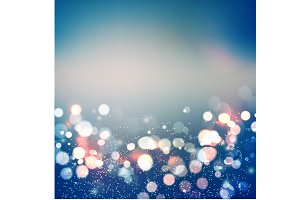 Abstract background. Festive elegant abstract background with bokeh  lights