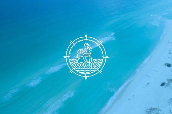 The Mermaid Ocean Beauty Logo