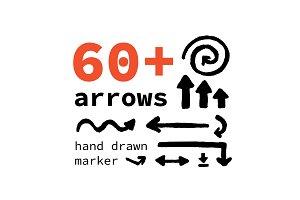 60+ arrows hand drawn
