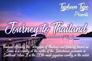 Journey to Thailand font