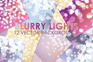 Vector abstract bokeh set