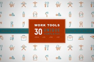 Work Tools Icons Set | Concept