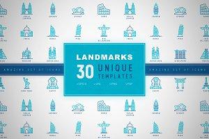 Landmarks Icons Set | Concept