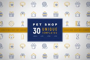 Pet Shop Icons Set | Concept