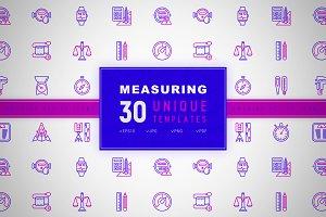 Measuring Icons Set | Concept