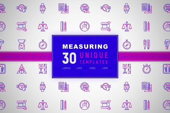Measuring Icons Set | Concept in Graphics