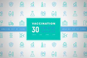 Vaccination Icons Set | Concept