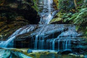 Canyoning Waterfall -portrait aspect