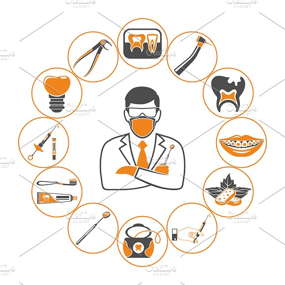 Dental Services Themes in Illustrations - product preview 4