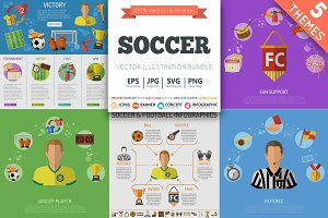 Soccer Banner Infographics Themes