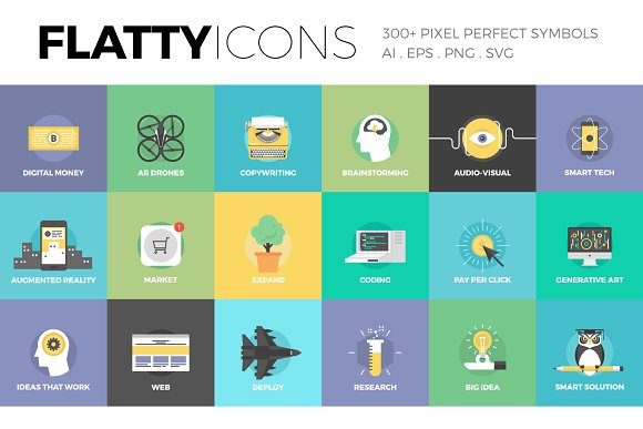 Flatty Icons Collection Icons Creative Market