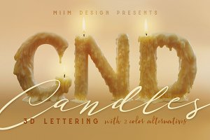Candle Light - 3D Lettering