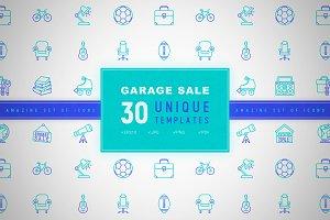 Garage Sale Icons Set | Concept