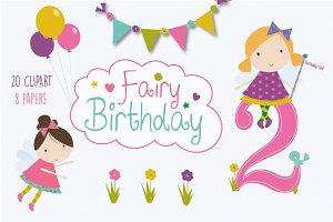 Birthday fairy set