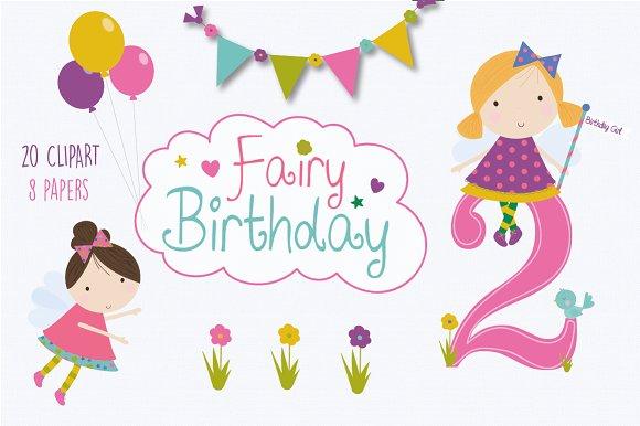 Birthday fairy set
