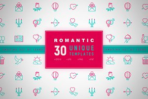 Romantic Icons Set | Concept