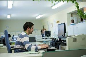 Real people: office clerk