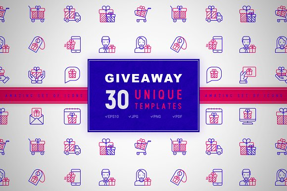 Giveaway Icons Set | Concept in Graphics