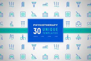 Physiotherapy Icons Set | Concept