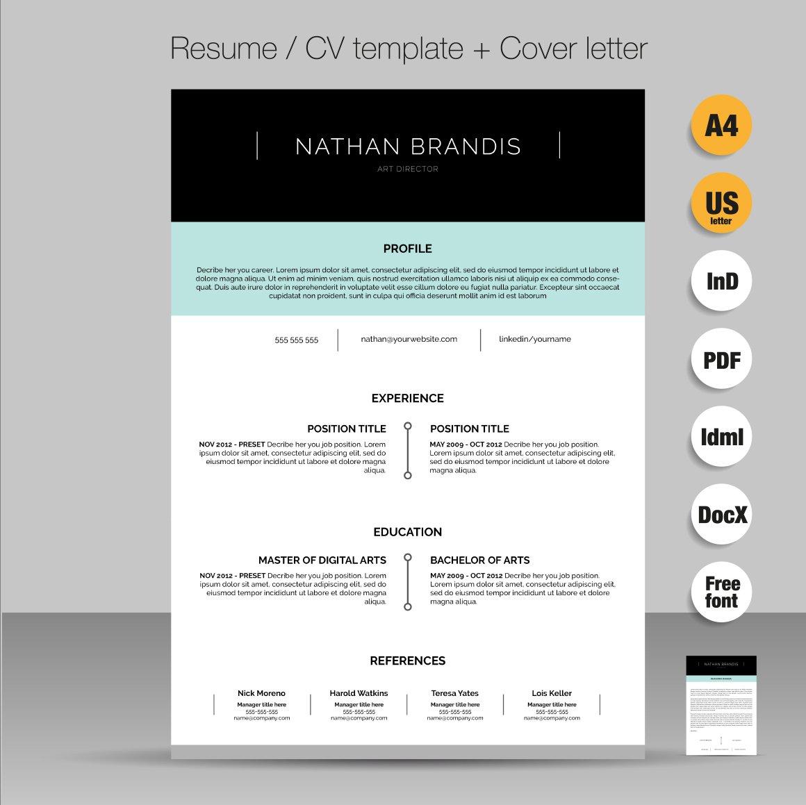 resume template cover letter template the jane walker resume pinterest writing - Sample Cover Letter For Job Resume