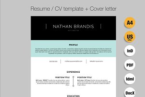 Resume / CV / Cover letter pack