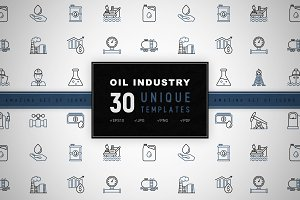 Oil Industry Icons Set | Concept
