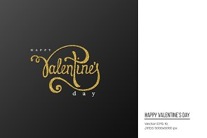 Valentines Day handwriting lettering