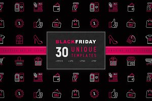 Black Friday Icons Set | Concept