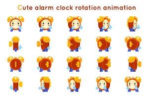 Cute alarm clock child ticker kid