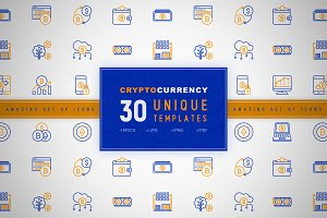 Crypto Currency Icons Set | Concept