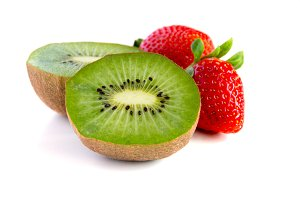 Fresh kiwi and strawberry