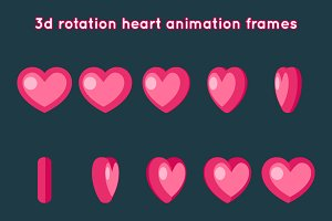 Valentine Day 3d Heart Rotation