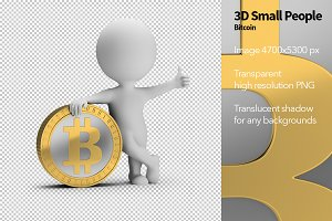 3D Small People - Bitcoin