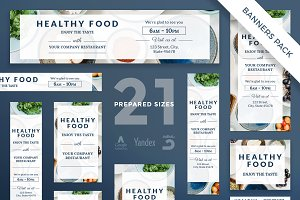 Banners Pack | Healthy Food