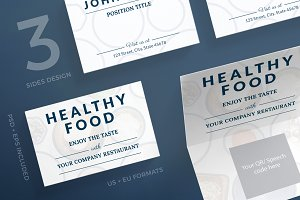 Business Cards | Healthy Food