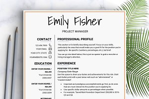 Resume Template / Instant Download