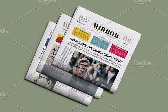 mirror newspaper template magazine templates creative market