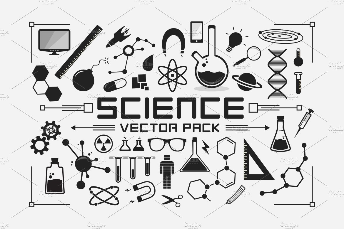 Science Vector Pack ~ Graphic Objects ~ Creative Market