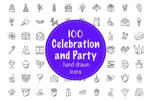 100 Celebration and Party Doodles