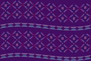 Purple tribal seamless  pattern.