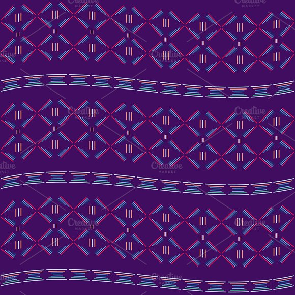Purple tribal seamless  pattern.