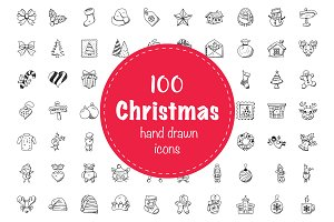 100 Christmas Doodle Icons