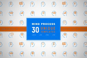 Mind Process Icons Set | Concept